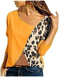 LANSKIRT _Pull femme sexy Top Femme Chic, T-Shirt décontracté à Manches Longues et col Rond Pulls Femme Originaux Top Manche Longue Femme Pull Ample Femme …