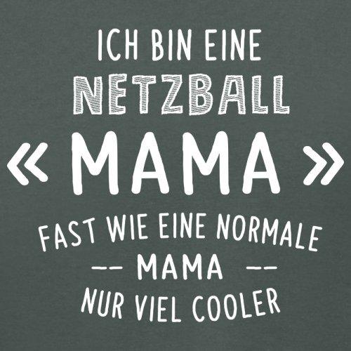 Ich bin eine Netzball Mama - Damen T-Shirt - 14 Farben Dunkelgrau