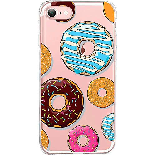 Blitz® Ei Schutz Hülle Transparent TPU Cartoon Comic iPhone Sold Out M9 iPhone 8 8s Donuts M12