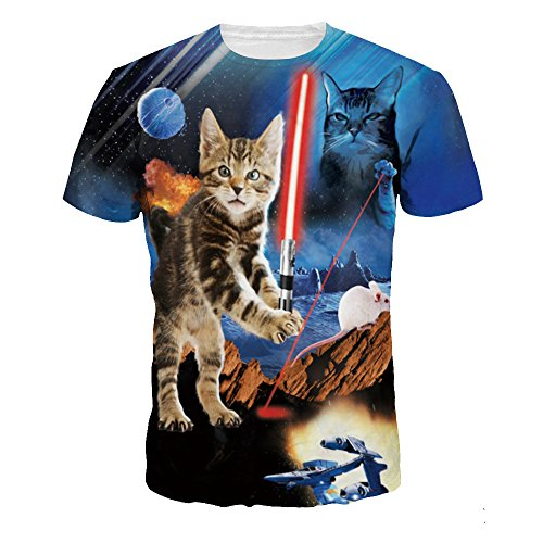 OYABEAUTYE Unisex 3D Printed Summer Casual Short Sleeve T Shirts Tees