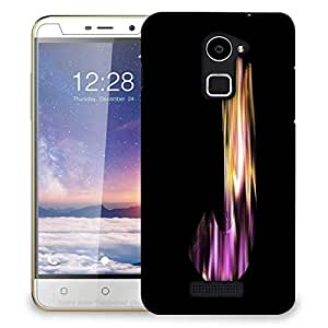 Snoogg flaming 3d letter Designer Protective Back Case Cover For Coolpad Note 3 Lite