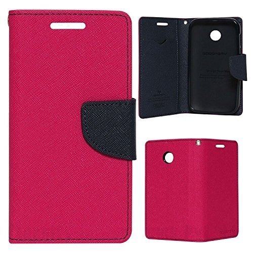 Mercury Goospery Fancy Diary Wallet Flip Case Leather Cover for Lenovo A369i(Pink)  available at amazon for Rs.249