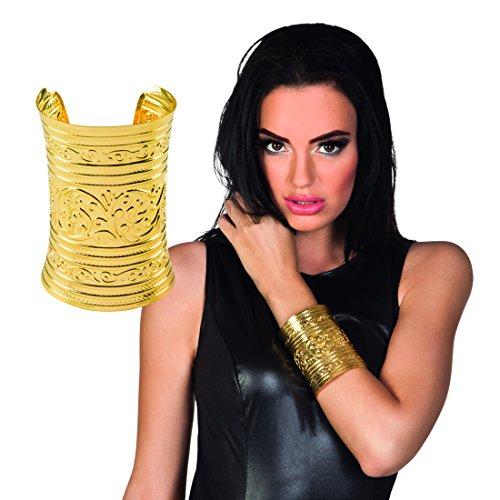 Römerin Armspange - Gold - Ägyptischer Schmuck Armreif Orient Modeschmuck Antike Armschmuck Göttin Ägypterin Kostüm Accessoire Ägyptischer Schmuck - Göttin Kostüm Schmuck