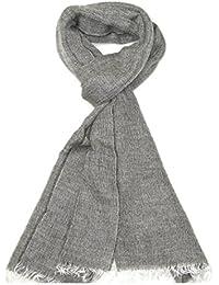 Lovarzi Grau Frauen Wolle Schal - Super weicher Alpaka und Mohair Mischung Wolle-Schal für Damen