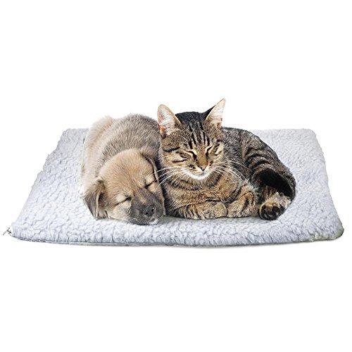 Demiawaking Coperta per Animali Domestici Lettino Auto-riscaldante per Animali Tappetino per Cani e Gatti (90 X 64 cm)