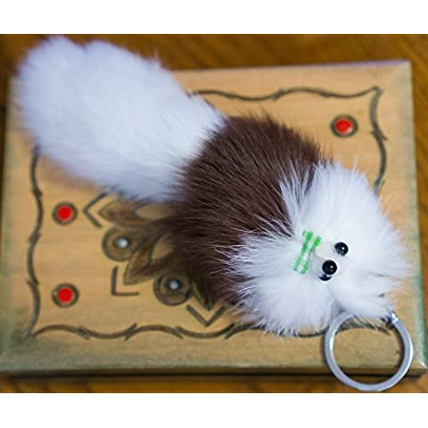 3 2 FOR! Big Designer Fur Keyring 20 cm, Charm,