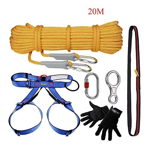 WYX Kletter-Kit Outdoor Family Emergency Lifeline Safety Rope Earthquake Disaster Prevention Set-6 Stücke 20m