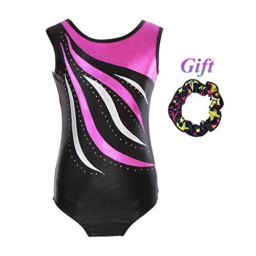 Hougood Turnanzug für Mädchen Leotards for Gymnastics Gymnastik Trikots Ballett Kleid Kinder Tanzbekleidung Akrobatik Body Alter ()