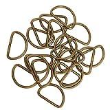Baoblaze 100 Stück D Ringe Halbringe, Legierung für Gurt Band Riemen Schnalle Gürtelschnalle - Bronze, 25x14x2.8mm