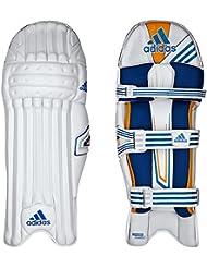 adidas Elite Hommes Tampons Batte De Cricket Jambe Gardes Blanc/Bleu
