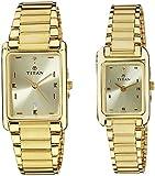 Titan Bandhan Analog Champagne Dial Couple Watch, 531193YM06