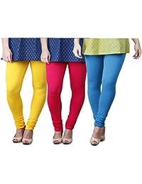 Limeberry Women's Cotton Legging Pack of 3 (LB-3PCK-LEGG-CMB-2_Multicolor)