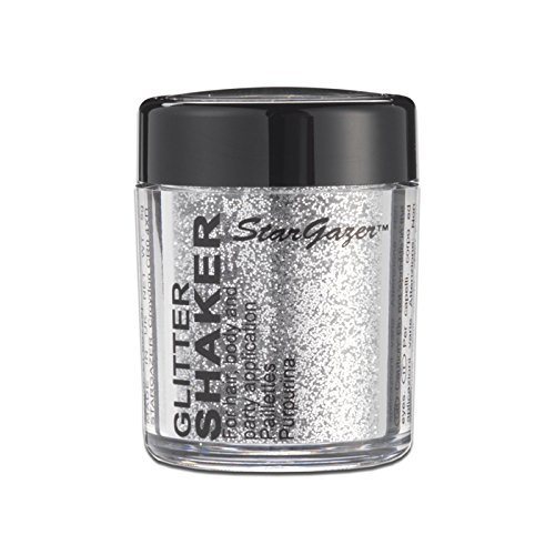 Stargazer Products Glitzer Streudose, silber, 1er Pack (1 x 5 g) (Make Up Gesichts Haar)