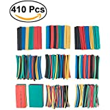 OUNONA 410Pcs Heat Shrink Tubing Tube Sleeving Wrap Cable Wire 10 Size