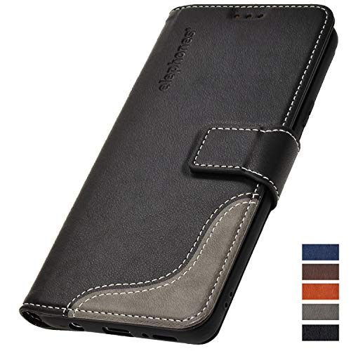 Samsung Galaxy-S8 Hülle - Schutzhülle Handyhülle für Galaxy S8 - Handy Tasche Wallet Case Cover Schwarz