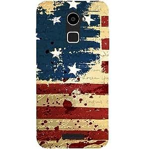 Casotec USA Flag Design Hard Back Case cover for Coolpad Note 3 Lite