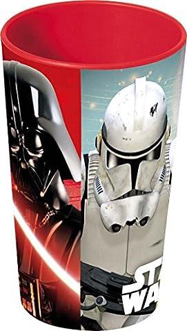 Unbranded 8011614 Star Wars Gobelet Plastique/Polypropylène Rouge 27 cl