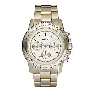 Fossil Damen-Uhren Chronograph Sport Aluminium Champagner CH2708