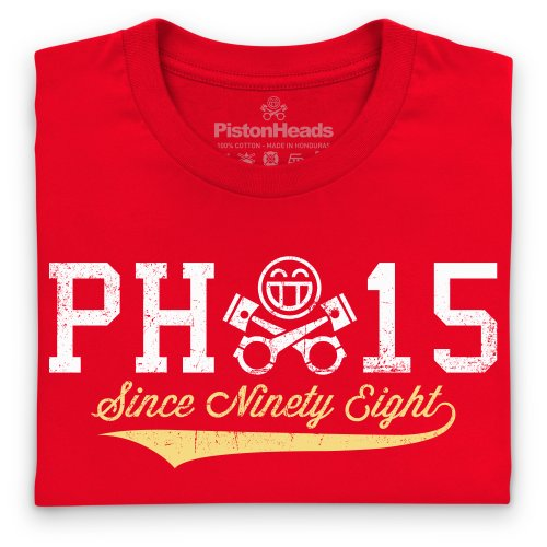 PistonHeads Since Ninety Eight T-Shirt, Herren Rot