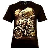 Eagle Rider Herren T-Shirt Schwarz Gr. 3XL Glow in The Dark