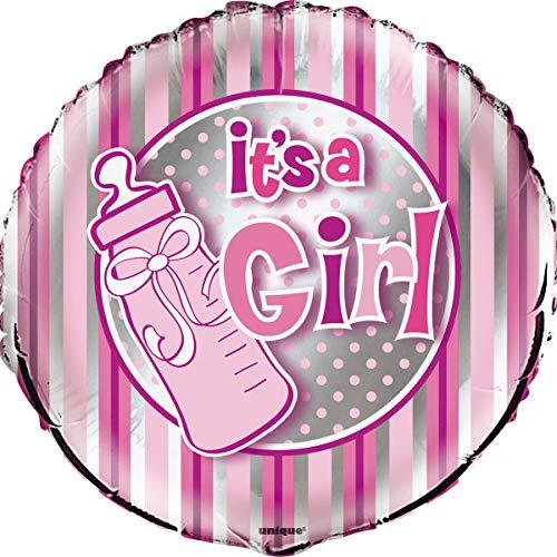 ES UNA NIÑA globo con helio a llenar el nacimiento o la ducha de bebé en color de rosa