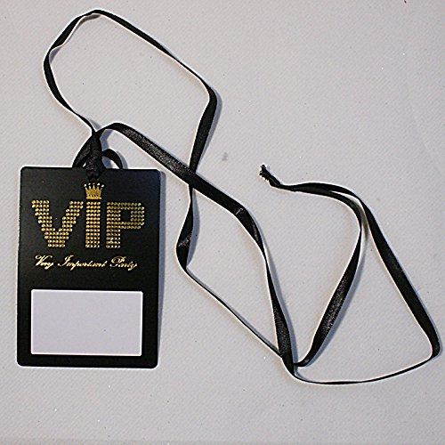 NEU Namensschild VIP-Pass am Band, 7x10 cm, 10 Stk