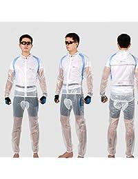 XKS Chaqueta De Ciclismo Hombre Mujer Unisex Bicicleta Impermeable Paravientos Chándal Sudadera Camiseta Chaqueta Sets De,White,XL