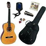 Pack Guitare Classique 3/4 (8-13ans) Pour Enfant Avec 5 Accessoires (nature)