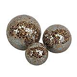 Set von 3Crackle Bällen in verschiedenen Größen, 3verschiedene Farben erhältlich, kupfer