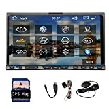 Vendite calde! Autoradio Stereo navigazione di GPS da 7 pollici 2 din Video Car DVD CD sistema GPS Bluetooth Mappa Card Modem HD touch screen Car PC Headunit
