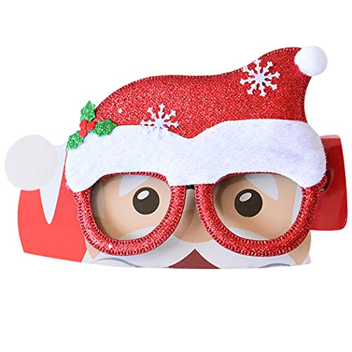 Funpa Christmas Party Glasses Decorative Funny Glasses Party Favors for Adults & Kids