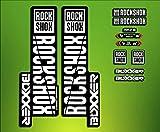 PEGATINAS STICKERS Federgabel Rock Shox Boxxer 2018elx67Fork Aufkleber Decals MTB, weiß