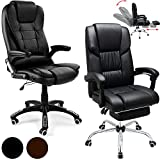 Office Desk Chair Computer Gaming Swivel Black or Brown PU Leather Adjustable Executive