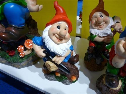 4 Gartenzwerg Figuren 27cm Gnome Zwerg - 3