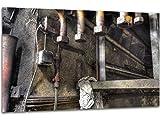 Verschmierte Öl-Wand - Wandbild Maxhütte, exklusiver Druck auf Leinwand, Alu-Dibond oder Acrylglas inkl. kostenloser Wandhalterung - Moderne Wandbilder Bilder Glas Bild Kunst Fotografie Kunstdruck Deko für Wohnzimmer, Schlafzimmer und Büro