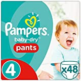 Pampers Baby Dry Pants, Taille 4, 8–14Kg, couches, lot de 2(2x 48pièces)