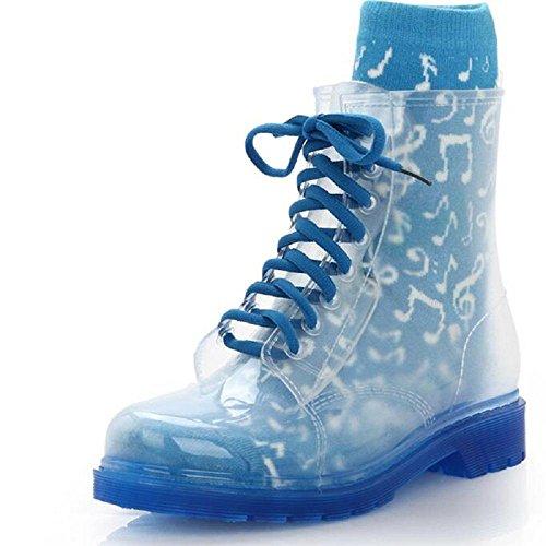 Frühling Martin Stiefel Mode Mädchen Anti-Rutsch Regen Stiefel Blue