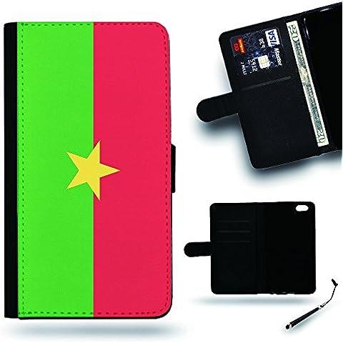 Per Cellulare Negozio//2016Coppa Coppa del Mondo Case Cover Protezione Completa Custodia a portafoglio in pelle Slot per Apple Iphone 6Iphone 6s iPhone6/iphone6s/Burkina Faso Bandiera BURKINA FASO Drapeau