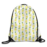 Drempad Tunnelzug Rucksäcke, Pineapple Wallpaper Beam Mouth Backpack Drawstring Backpack Drawstring...