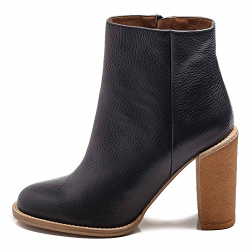See By Chloè Stivaletti Africa Calf Black 100 mm Honey Crepe-38,5