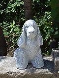 Statue chien cocker spaniel Pierre en fonte, au gel