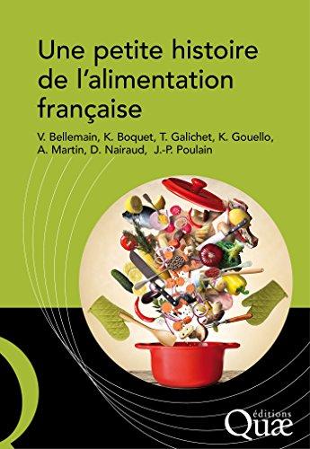 Couverture du livre Une petite histoire de l'alimentation française (Hors collection)