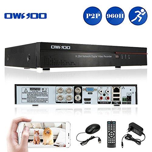 OWSOO 4CH Netzwerk DVR Digitaler Videorekorder Voll 960H/D1 h. 264 P2P CCTV Sicherheit Telefon Control Motion Detection E-Mail Alarm für Überwachungskamera