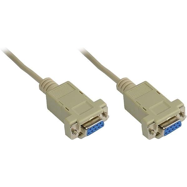 DTECH DDB9 zu DB9 RS232 Serielles Kabel Buchse zu Buchse Nullmodemkabel Kreuz TX RX-Leitung f/ür Datenkommunikation 1,5 m, schwarz