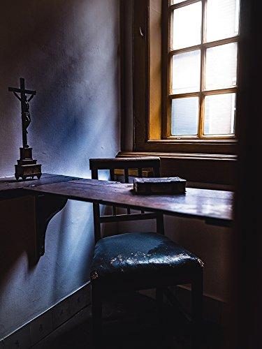 Artland Qualitätsbilder I Poster Kunstdruck Bilder 90 x 120 cm Fantasy Mythologie Religion Christentum Foto Blau D5EB Die Beichte