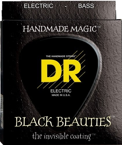 DR Handmade 4-String Black Beautie Coated Bass Guitar Strings (45-105/50-110)50-110