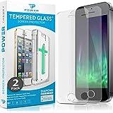 Power Theory Panzerglasfolie kompatibel mit iPhone SE 5/5s (2 Stück) - Japanische 9H Panzerglas Folie, HD Displayschutzfolie/Panzerfolie, Tempered Glas Schutzglas, Schutzfolie Screen Protector Glass