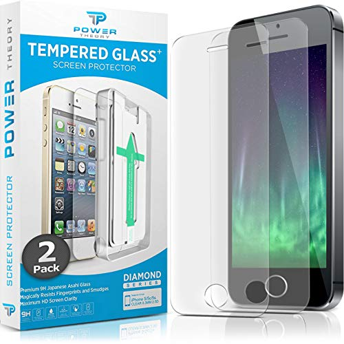 Power Theory Panzerglasfolie kompatibel mit iPhone SE 5/5s (2 Stück) - Japanische 9H Panzerglas Folie, HD Displayschutzfolie/Panzerfolie, Tempered Glas Schutzglas, Schutzfolie Screen Protector Glass (Hd-iphone 5 Screen Protector)