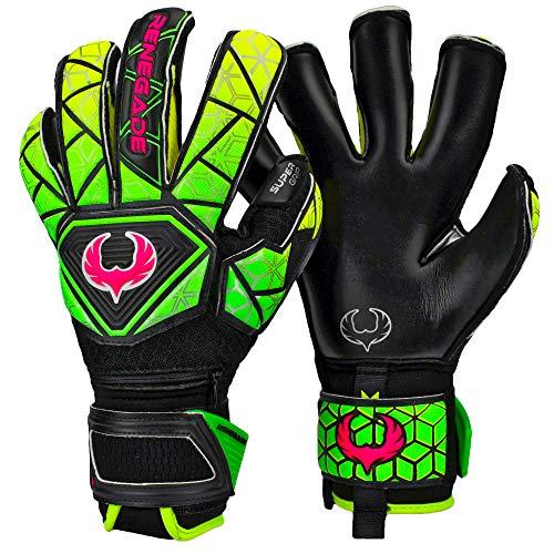 Renegade GK Vortex Venom Größe 10 Roll Hybrid Cut Torwart Handschuhe mit 3+3MM Klebriger Deutscher Hyper Grip & 3D Super Mesh (Match Level 3) - 30 Tage Garantie - Jugendliche, Erwachsene