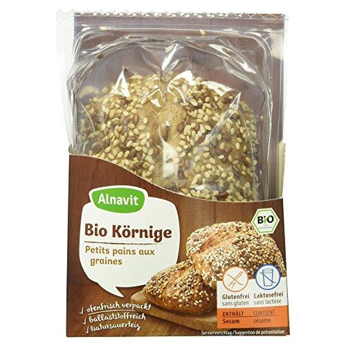 Alnavit Bio Körnige Brötchen, glutenfrei, laktosefrei, 6er Pack (6 x 125 g)